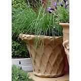 Lattice Fiberglass Planter inTerra Cotta Finish