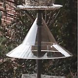 Pole Mounted Bird Feeder Squirrel Baffle-Clear