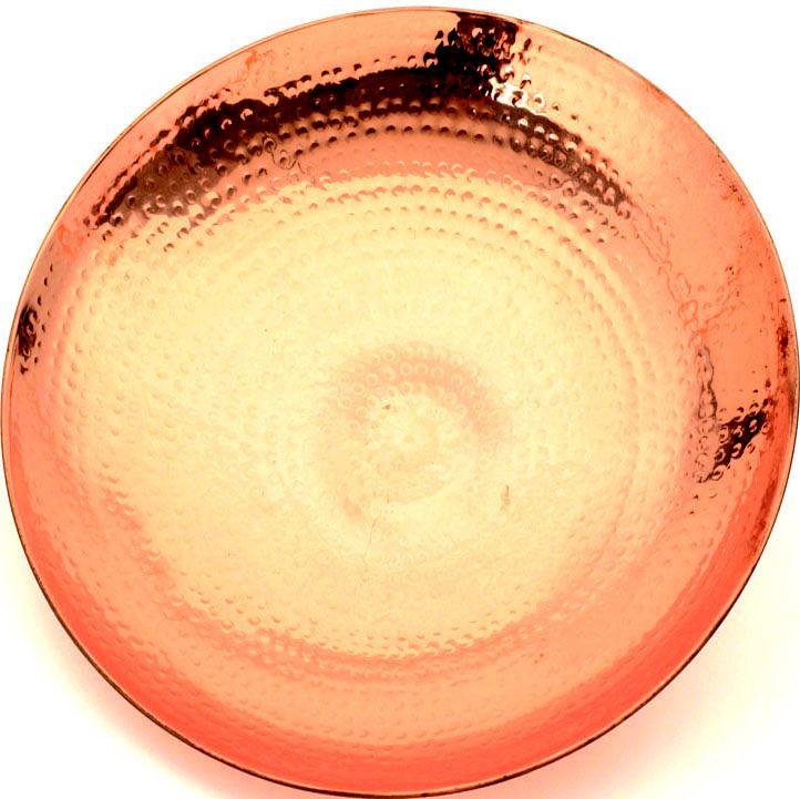 Polished Copper Birdbath