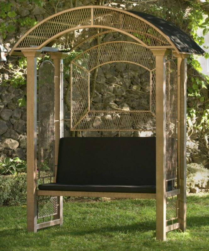 Completely new Unique Garden Arbor with Bench, Metal, Wood or PVC Arbor Bench OR86
