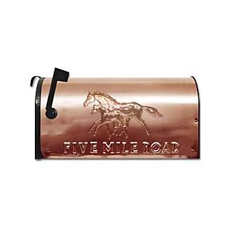 Mare and Foal Copper Mailbox