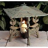 Chickadee Twilight Tea Lantern French Bronze
