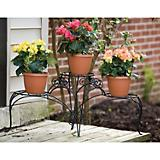 Panacea 3 Tiered Plant Stand With Finial
