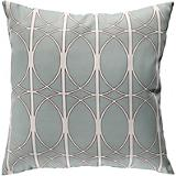 Blue Haze Antique White Pillow