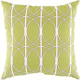 Fern Green Brown Papyrus Pillow