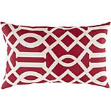 Venetian Red Papyrus Pillow