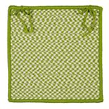 Outdoor Houndstooth Tweed Lime Chair Pad
