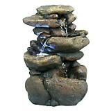 3 Tier Rock Tabletop Fountain with LED Light