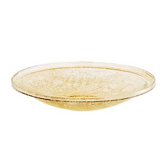 14In Crackle Glass Bowl