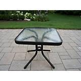 20Inch Glass Top Side Table