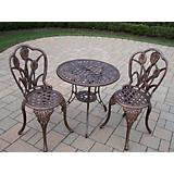 Tulip Cast Aluminum 3pc Bistro Set