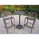 Tulip Cast Aluminum 3pc Bar Set