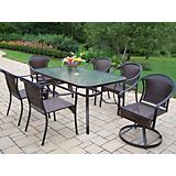 Tuscany 60 x 36 7pc Dining Set with Swivel Chairs