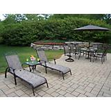 Cascade 7pc Set w/ Umbrella and 3pc Chaise Lounge