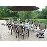 Cascade 9pc Set w/ Umbrella and 3pc Chaise Lounge