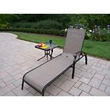 Cascade Sling 2pc Set Chaise Lounge and End Table