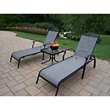 Cascade Sling 2 Chaise Lounge and End Table