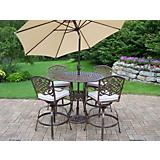 Elite Mississippi 5pc Bar Set with Cushions