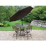 Elite Mississippi 5pc Bar Set w/ Umbrella n Stand