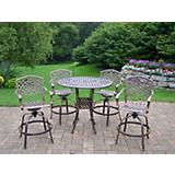 Elite Mississippi 5pc Swivel Bar Set