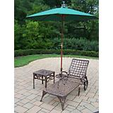 Elite 2pc Chaise Lounge Set w/ Umbrella and Stand