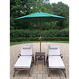 Elite 3pc Lounge Set with Cushion plus Umbrella