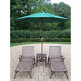 Elite 3pc Chaise Lounge Set with Umbrella