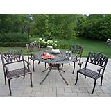 Capitol Cast Aluminum 48Inch Tulip 5pc Dining Set