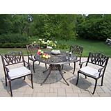 Capitol 48Inch Tulip 5pc Dining Set with Cushions