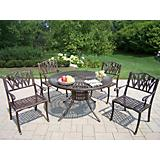 Sunray Cast Aluminum 48Inch Tulip 5pc Dining Set