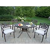 Sunray 48Inch Tulip 5pc Dining Set with Cushions