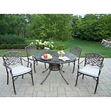 Sunray 48In Mississippi 5pc Dining Set w/ Cushions