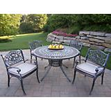 Sunray 48In Hummingbird 5pc Dining Set w/ Cushions