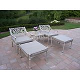 Tacoma Cast Aluminum 5pc Seating Set with Cushions