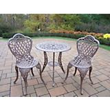 Mississippi Cast Aluminum 3pc Bistro Set