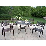 Mississippi Cast Aluminum Tulip 5pc Dining Set