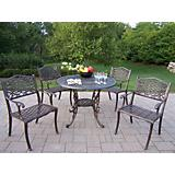 Mississippi Cast Aluminum 42Inch 5pc Dining Set