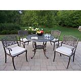Mississippi 42Inch 5pc Dining Set with Cushions