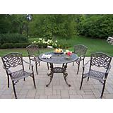 Mississippi 42In 5pc Arm Chair Dining Set