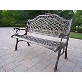Mississippi Cast Aluminum High Back Bench