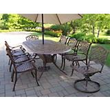 Mississippi Oval 9pc Set Swivel plus Umbrella