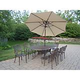 Mississippi Oval 9pc Set and Umbrella w/ Base