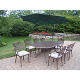 Mississippi Oval 9pc Set with Cushion Umbrella