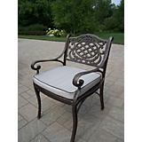 Mississippi Arm Chair with Cushion Antique Bronze