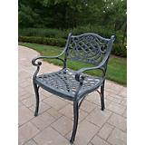 Mississippi Cast Aluminum Arm Chair Verdi Grey
