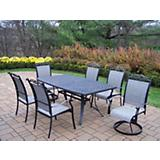 Cascade 7pc Swivel Dining Set w/ Table