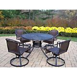 Sunray Tuscany 48Inch 5pc Swivel Dining Set