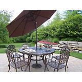 Mississippi 7pc Set with Brown Tilting Umbrella