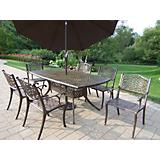 Oxford Mississippi 7pc Dining Set with Umbrella