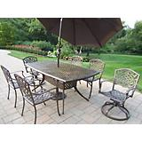 Oxford Mississippi 7pc Set w/Swivel Chair Umbrella